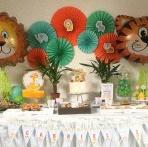 Un premier anniversaire sur le thème Animaux de la jungle