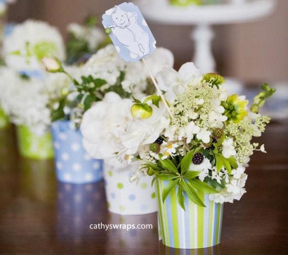 fleurs bapteme baby shower