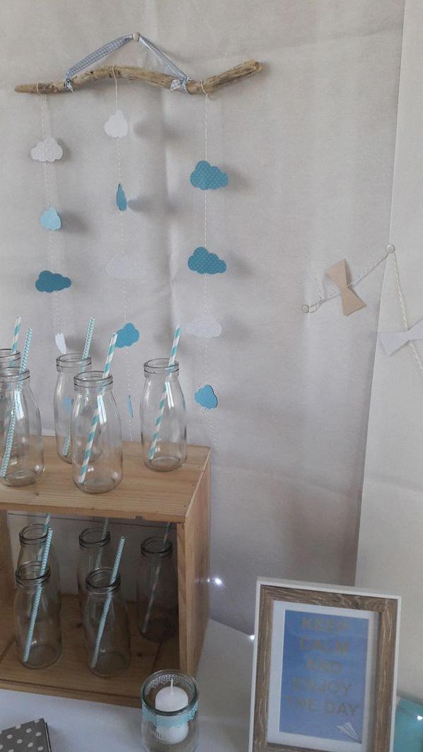 baby shower cerf-volant moulins à vent