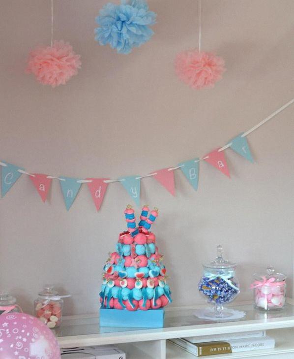 décoration anniversaire baby shower jumeaux sweet table