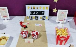 Un anniversaire Pompier : la Pin Pon Party de Martin