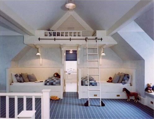 aménagement chambre d'enfant sous combles