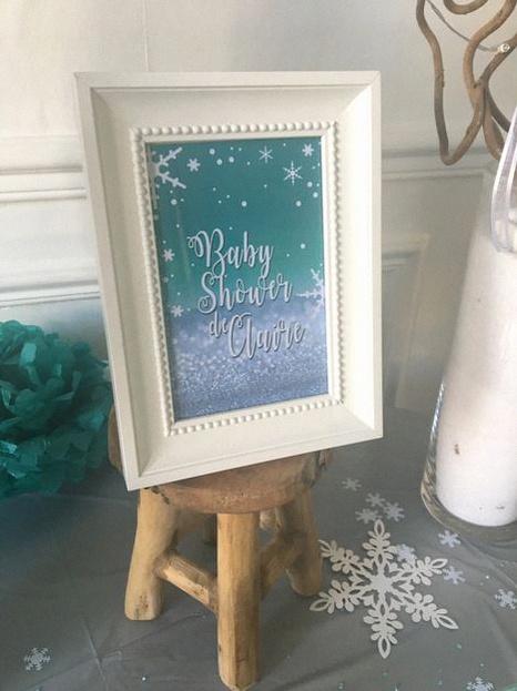 baby shower hiver thème flocons