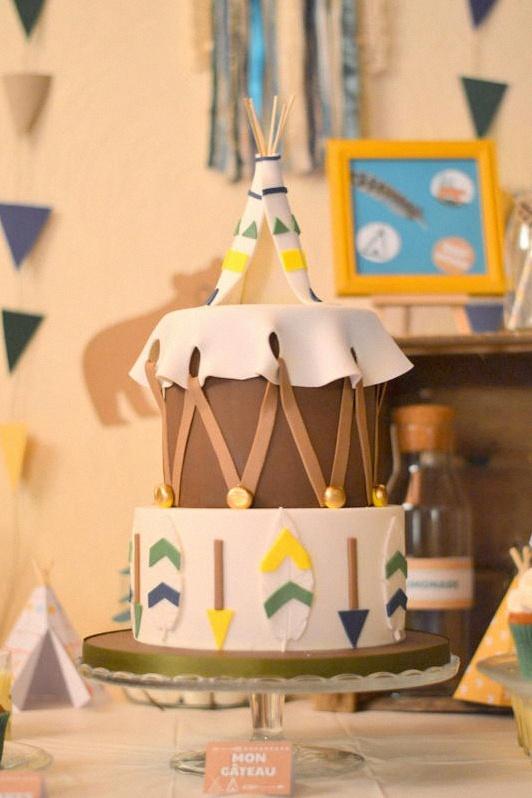 gateau petit indien décoration sweet table bohème indien