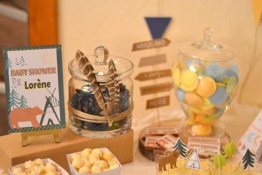 baby shower petit indien décoration sweet table bohème indien