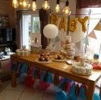 La baby shower DIY et mixte de Justine en rose, bleu et doré