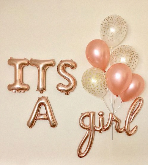 ballons lettres tendances baby shower