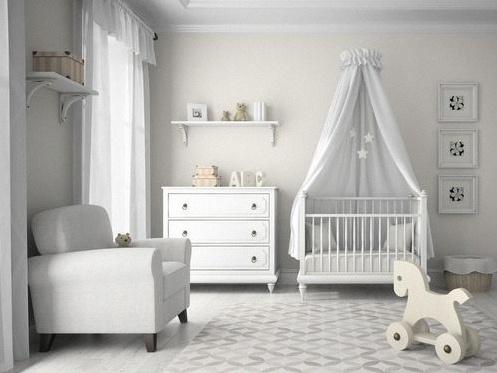 chambre de bebe blanche