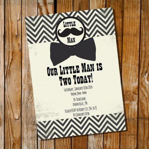 invitation anniversaire décoration vintage