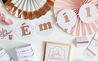 La Baby shower surprise d'Emilie : rose gold et rose poudré