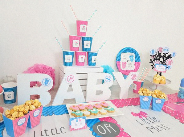 gender reveal party baby shower annonce du sexe de bébé
