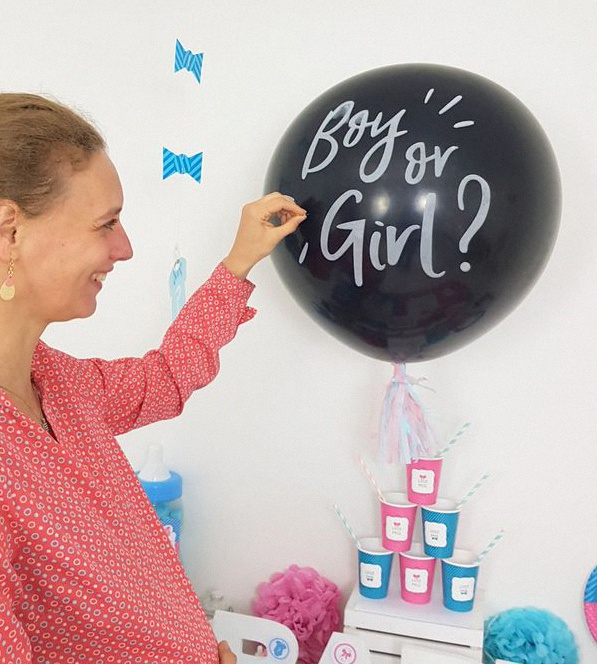 décoration gender reveal party baby shower annonce du sexe de bébé