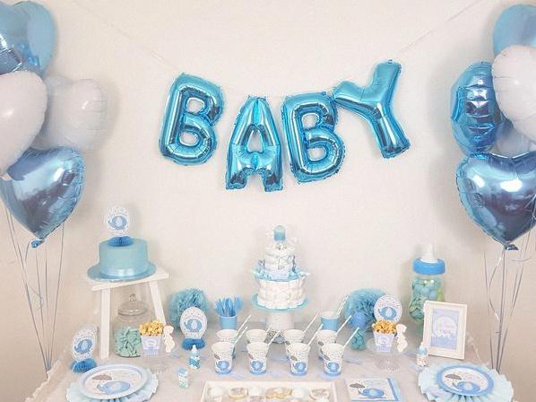 baby shower petit éléphant bleu