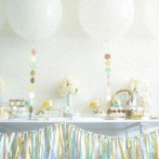 La jolie Baby shower surprise de Caro : mint, taupe et jaune