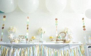 La jolie Baby shower surprise de Caro : mint, taupe et jaune