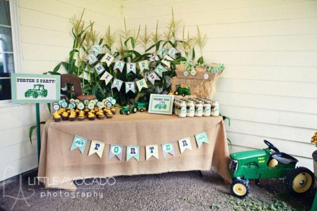 sweet table anniversaire tracteur décoration tracteur