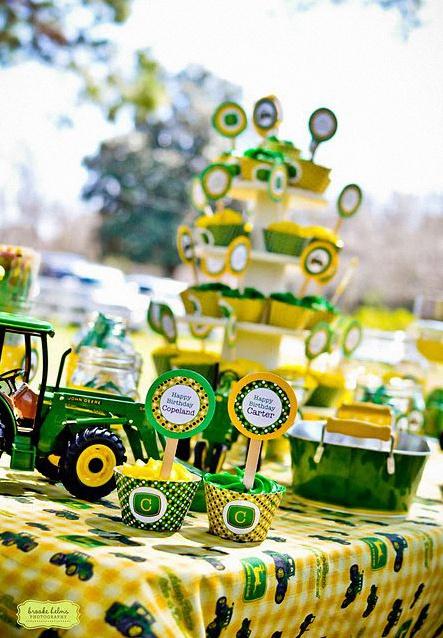 anniversaire tracteur décoration tracteur