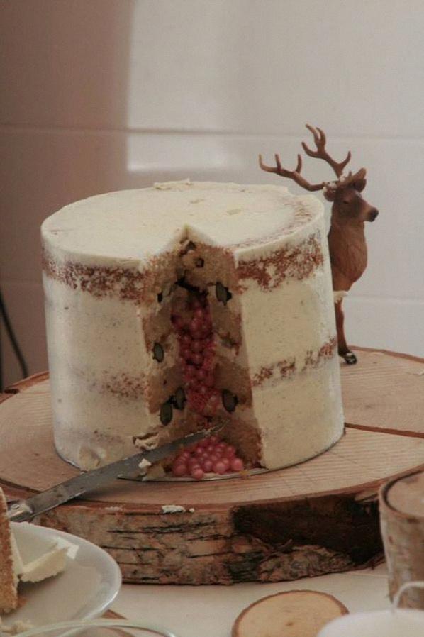 nude cake nature bois