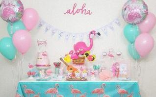 Flamingo Party : l'anniversaire Tropical et Flamants roses de Louise