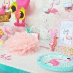 Flamingo Party : l'anniversaire Tropical et Flamants roses de Louise