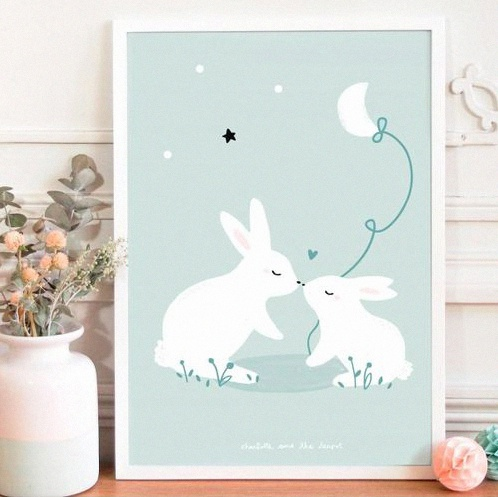 affiche lapin baby love