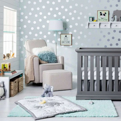 Deco Chambre Bebe Garcon Bleu Plaids Decor Nursery Ideas ...