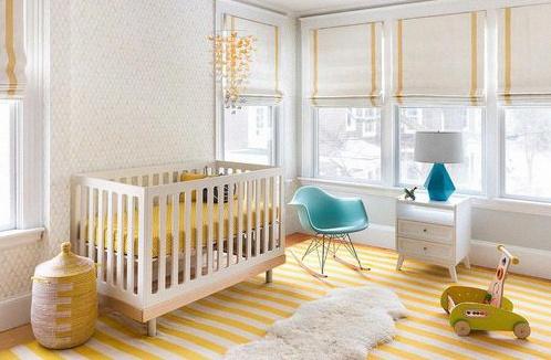 déco chambre bébé garçon jaune tendance