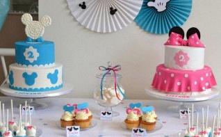 Un anniversaire Minnie Mickey pour des jumeaux