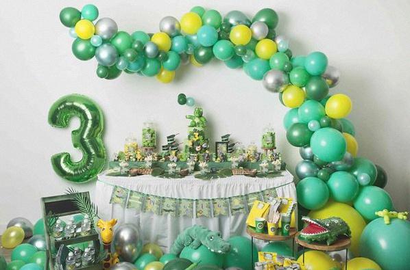 anniversaire Jungle sweet table décoration jungle