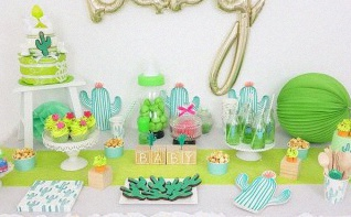 Carnet d'inspirations : une Baby shower Cactus