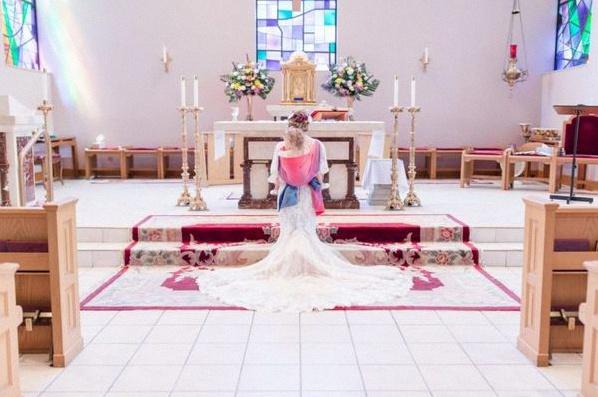 mariage avec un bébé
