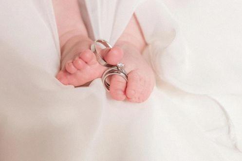 se marier avec bébé