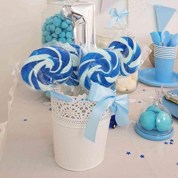 anniversaire bleu et argent
