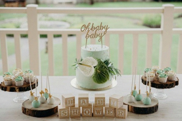 Baby shower tropicale