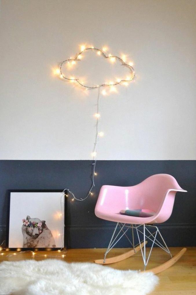 Chambre d\'enfant : 10 idées déco avec une guirlande lumineuse