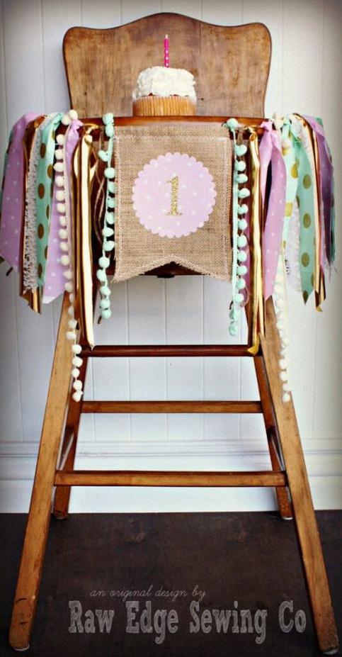 décoration de chaise haute