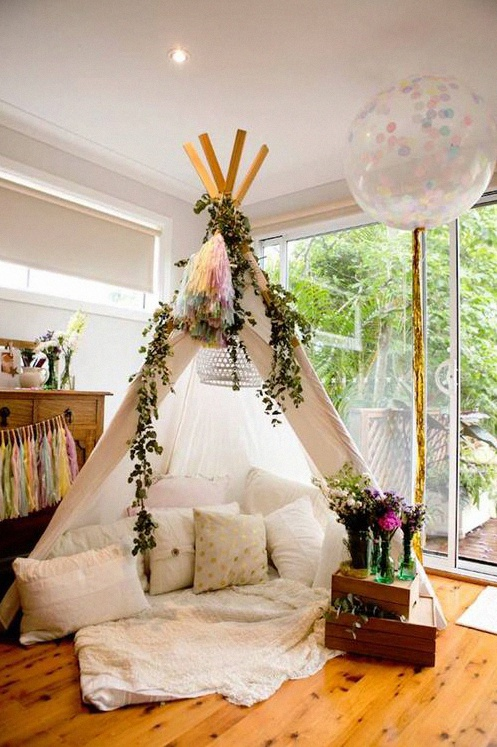 déco tipi baby shower