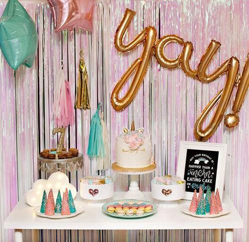 décoration d'anniversaire