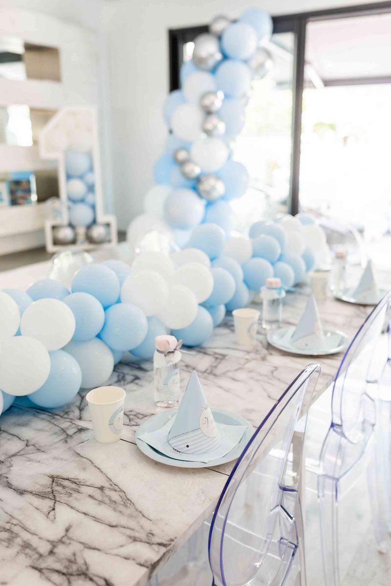 décoration de table ballons
