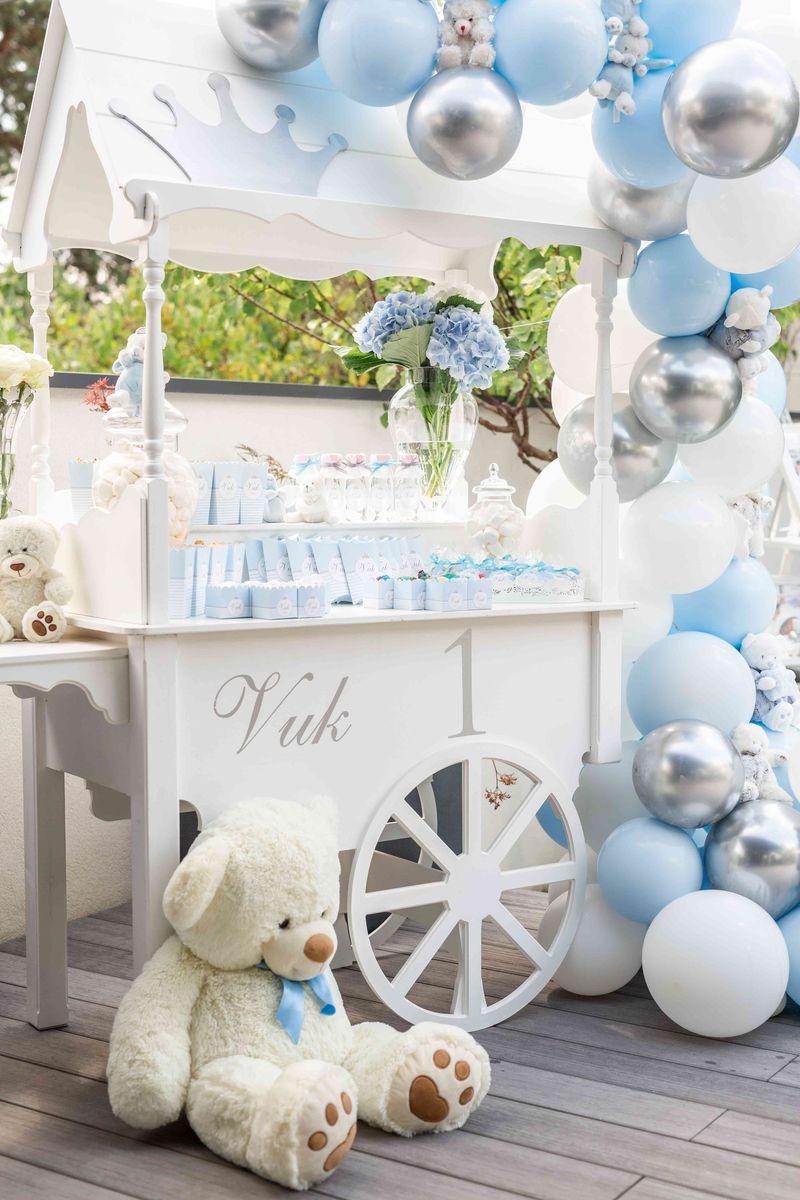 candy bar bleu blanc